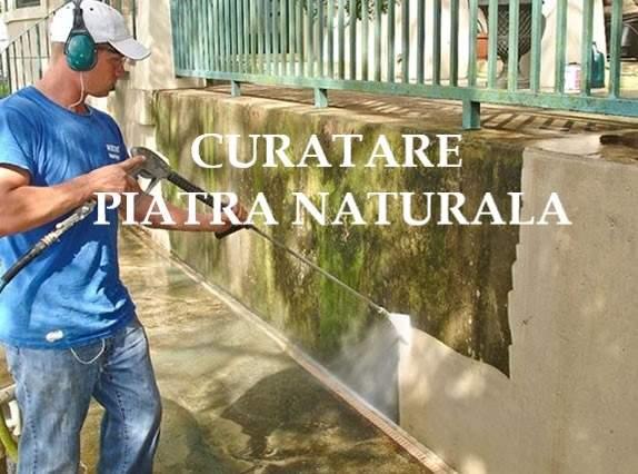 curatare piatra naturala gard.