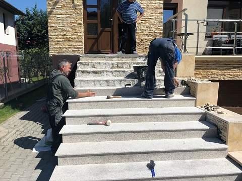 montaj trepte granit exterior Cluj